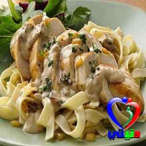 وصفة الدجاج المتبل بالبهارات الايطالية مع الفيتوتشيني