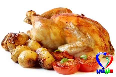 دجاج و خضار بالفرن
