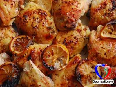 صينية الدجاج بالليمون