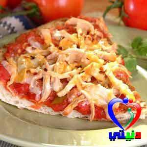 طريقة تحضير بيتزا الدجاج المدخن المكسيكية
