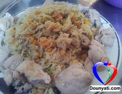 أرز بالخضار و الدجاج